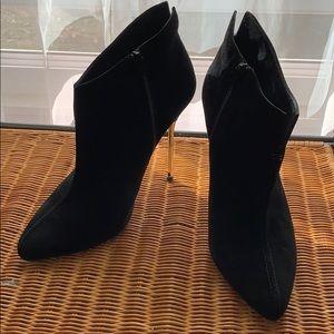 Stuart Weitzman black suede ankle boots